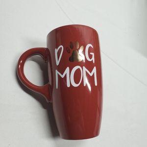 Red and Gold Dog Mom Coffee Mug New
